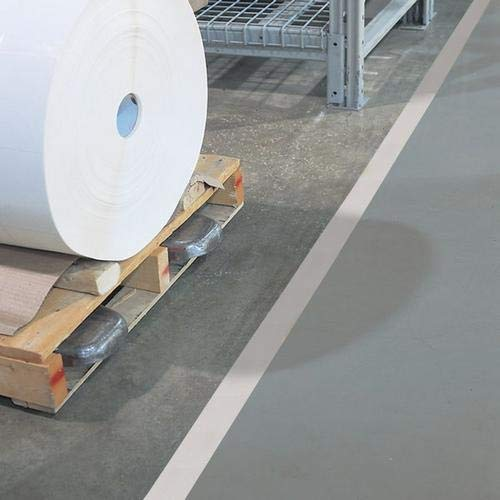 GHS Safety PST213XL, 2'' x 180' White Aisle Floor Tape, Pack of 20 Roll