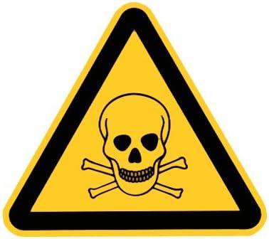 Warnschilder Folie selbstklebend 200 mm Warnung vor feuergef/ährlichen Stoffen  Warnzeichen