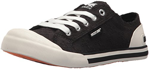 Rocket Dog Women's Jazzin Lucky Eyelet Cotton Sneaker, Black, 8 M (Rocket Dog Zappos)