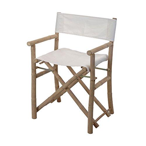 Lote de 2 sillones regidores Bambú Blanco: Amazon.es: Hogar