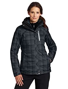 Columbia Women's Whirlibird Interchange Jacket, Black Printed Plaid, Small