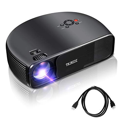 Projector, TAINIDI Video Projector 3600Lux, Full HD Projector with Big Screen, Home Theater Projector Support 1080P…