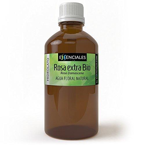 Rosa extra BIO - Agua floral - 100% Pura con Certificado ECOLÓGICO - 1 Litro Essenciales