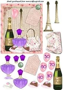 Paris Edad Tarjeta de cumpleaños frente por Sharon Poore