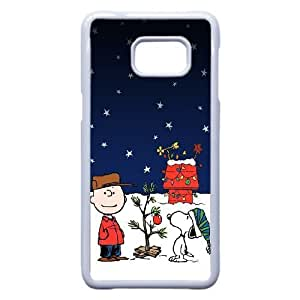 Snoopy Christmas Holiday plastic funda Samsung Galaxy S6 Edge Plus cell phone case funda white cell phone case funda cover ALILIZHIA14942