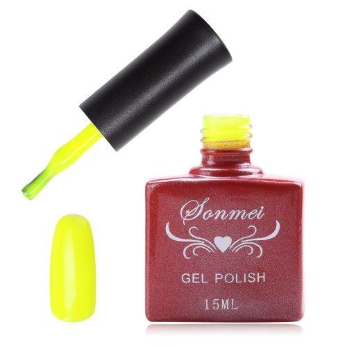 Janmei 15ml Soak Off Nail Art Polish Fluorescent Neon