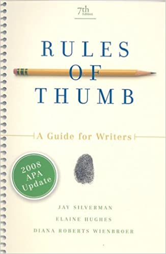 rules of thumb apa update edition jay silverman elaine hughes