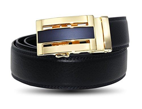 EZ CLICK BELTS Men's Leather Ratchet Belts (Waist 28