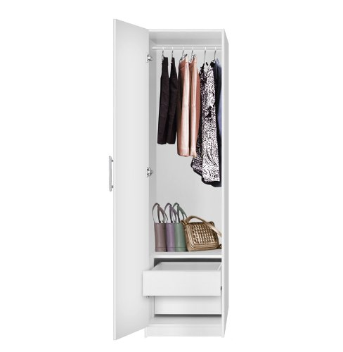 Attrayant Amazon.com: Alta Narrow Wardrobe Closet   Left Door, 2 Interior Drawers    Alta: Kitchen U0026 Dining