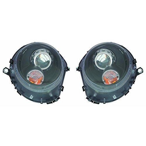 Fits Mini Cooper Clubman R55 2008-2014 Headlight Projector Halogen Black R=L MC2505103 ()