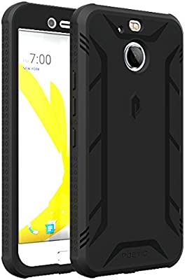 HTC Bolt Case, POETIC Revolution Series [Premium Rugged][Shock Absorption & Dust Resistant] Complete Protection Hybrid Case w/Built-in Screen ...