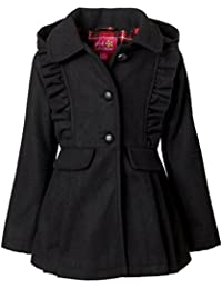 Wool Coat for Girls, Babies & Toddlers – Ruffles & Bow Accents