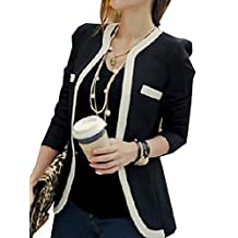 CFD Womens Color Conjoin Formal Career Office Suits Blazer