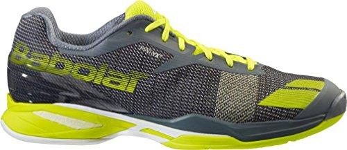 Babolat Jet Clay M terra battuta Scarpe da tennis grigio / giallo neon, Colore:grigio;Dimensione EU:EUR 44.5