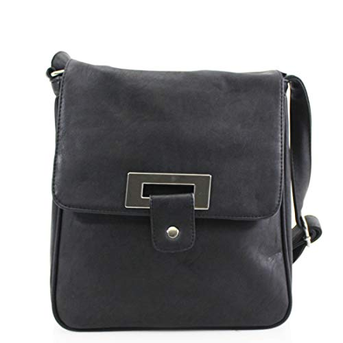 Elegant Fashions New Womens Small Cross Body bag,Ladies Shoulder Bag With Adjustable Shoulder Straps Travel organizers Black