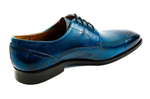 Melvin & Hamilton MH15-859, Scarpe Stringate Uomo Blu Blau