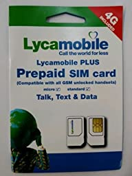 Lycamobile Preloaded Sim Card with FIRST FREE $29 Monthly Plan