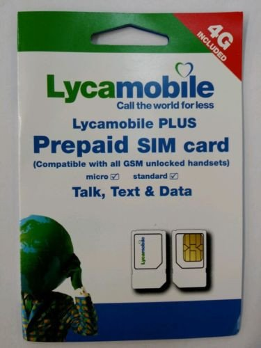 Lycamobile Preloaded Card FIRST Monthly product image
