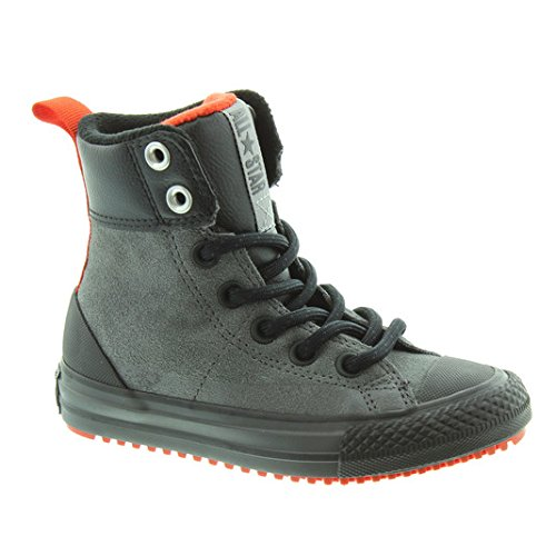 Converse Chuck Taylor All Star Asphalt High Top Big Kid's Boots Thunder/Signal Red/Black 654314c (11.5 M (Converse High Boots)
