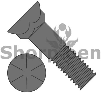 Box Quantity 175 by Shorpioen BC-6248BP8 5//8-11X3 Grade 8 Plow Bolt with Number 3 Head Plain