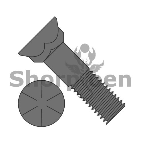 Grade 8 Plow Bolt With Number 3 Head Plain 5//8-11 x 2 1//2 Box of 200 weight43.7Lbs