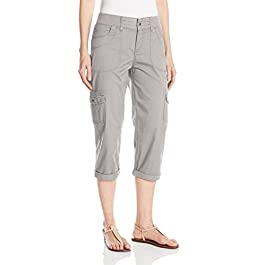 LEE Women's Relaxed-Fit Austyn Knit-Waist Cargo Capri Pant