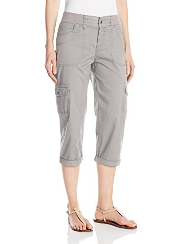 (Lee Women's Relaxed Fit Austyn Knit Waist Capri Pant, Frost Gray, 16 )