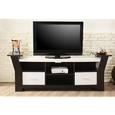 ioHOMES Torena Multi-Storage TV Stand, Black and White