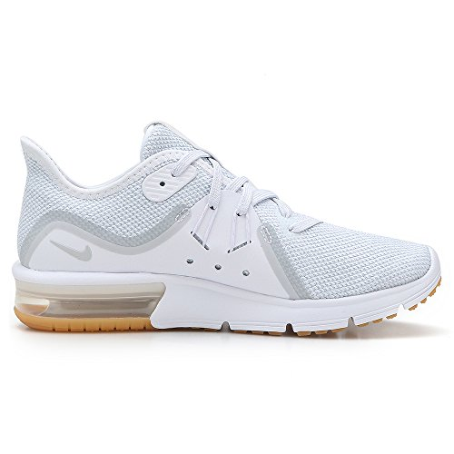 NIKE Women's Air Max Max Air Sequent 3 Running Shoe White/Pure Platinum Size 8.5 M US bac485