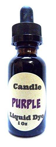 Mels Candles & More 1oz Bottle of Purple Highly Concentrated Liquid Candle Dye Amber Glass Dropper Bottle with Childproof Cap.