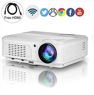 Ai LIFE Proyector inalámbrico HD 1080p Soporte Proyector de Video ...
