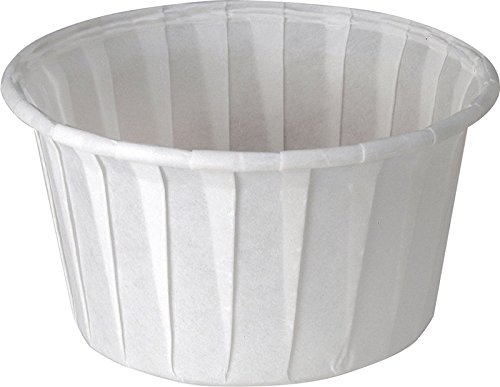 Solo 4.0 oz Treated Paper Souffle Portion Cups for Measuring, Medicine, Samples, Jello Shots (Pack of 250)