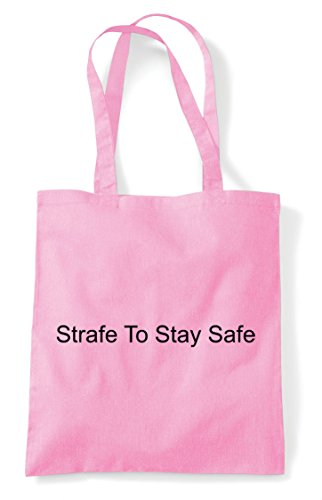 Funny Tote Light Tactical Stay Pink Strafe To Gamer Safe Shopper Bag Gaming Statement MIOaSFq