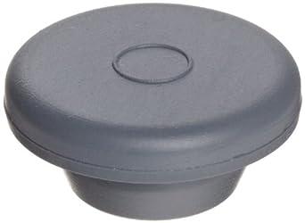 Wheaton 224100-174 Rubber 20mm Straight Plug Style Stopper, Gray Chlorobutyl-Isoprene Blend/40 (Case of 1000)
