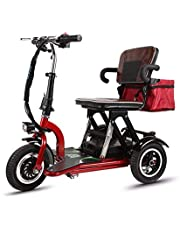 YHXJ 3 Wheel Mobility Scooter, Seniors Mobility Scooter, Disabled Mobility Scooter, Travel Mobility Scooter, Lithium Mobility Scooter, Convenient and Fast Folding, Stable Body
