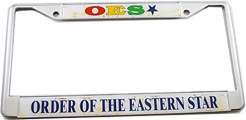 - Cultural Exchange Eastern Star Domed License Plate Frame [Silver - Car/Truck]