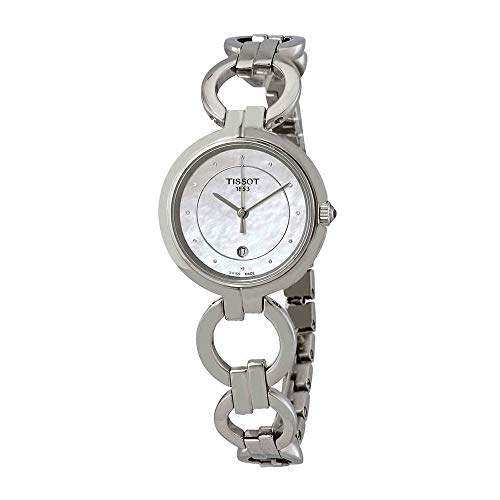 Tissot Flamingo Ladies Watch Diamonds Mother of Pearl Stainless Steel T094.210.11.116.00