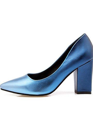 blue la del eu36 talones 5 de zapatos uk3 5 vestido GGX grueso pie en boda novedad us7 us5 5 eu38 cn38 5 uk5 tacón de fiesta nbsp;noche talones green cn35 del azul mujer 5 amp; uk3 eu36 YHUJI de 5 punta dedo us5 blue de cn35 fgA7cwqTq4