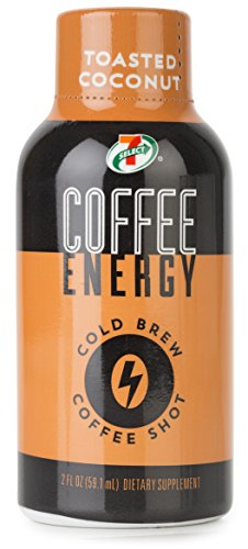 7-Select Cold Brew Coffee Energy Shots, Toasted Coconut, 2 oz, 12 pack