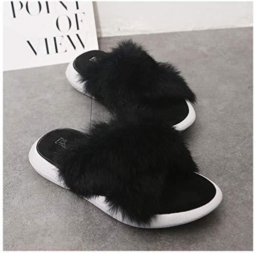 sportive da scarpe Nero Pantofole Pantofole casa Incrociate donna casuali da da DANDANJIE esterno CwITq5C8