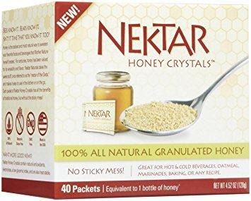 Nektar Honey Crystals 40 Ct Packets Per Box (Pack of 2 Boxes) ()