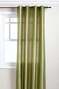 Stylemaster Tribeca 56 by 84-Inch Faux Silk Grommet Panel, Avocado