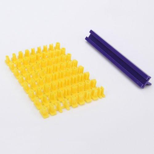minelect (TM) nueva hornear herramientas Cake/Cookies Mold letras números de la tipografía molde DIY Supplies: Amazon.es: Electrónica