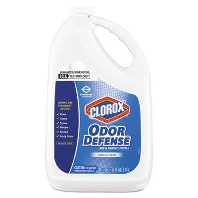Clorox Commercial Solutions Odor Defense Air/Fabric Spray, Clean Air, 1gal Bottle, 4/CT