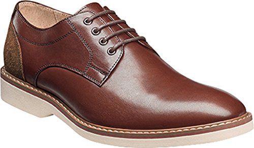 cheap sale official Florsheim Mens Union Plain Toe Oxford Brown Smooth/Brown Suede browse for sale P4MuRQA