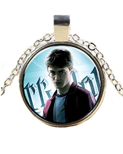 Fashion Jewelry ~Harry Potter Art Print Glass Dome Cabochon Necklace - Harry Glasses Online Potter