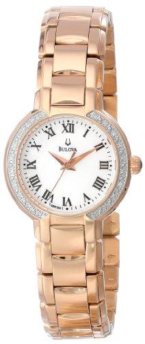 - Bulova Women's 98R156 Classic Round Diamond Accented Watch