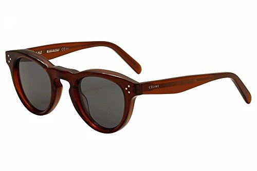 Celine 41372/S Sunglasses - 091E Transparent Brick (G8 Dark Gray Lens) - - Sunglasses Red Celine