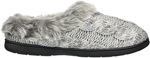 Light Cable Dearfoams Women's Space Grey Slipper Heather Wide Dye Width Knit Clog qgHgXz1