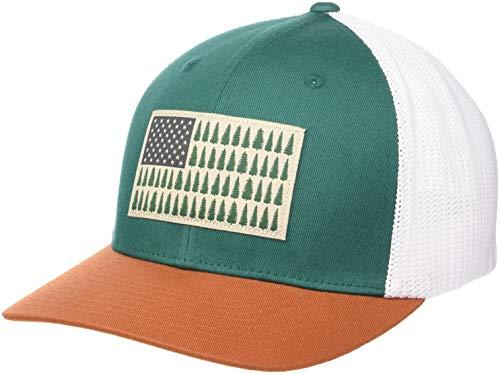 Columbia Men's Mesh Tree Flag Ball Cap, Pine Green, Large/X-Large -